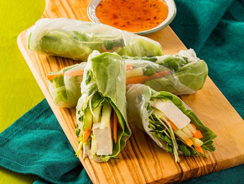 Fresh Vegetable Summer Rolls
