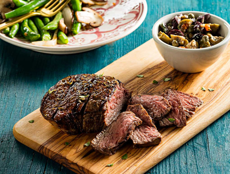 Grilled Sirloin with Olive Tapenade
