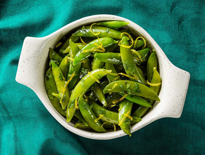 Lemon-Mint Sugar Snap Peas
