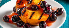 Grilled Peaches with Fresh Blueberry Compote