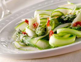 Shaved Asparagus, Radish and Parmesan Salad