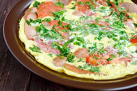 Sweet Onion Frittata with Ham