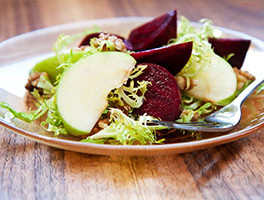 Roasted Beet, Apple and Queso Fresco Salad