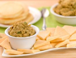 """Red Lentil Dal with Jicama """"Chips"""""""