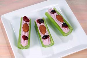 Almond Cranberry Celery Logs