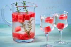 Watermelon Rosemary Water