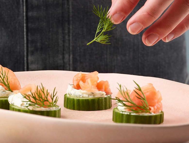 Smoked Salmon & Cucumber Bites
