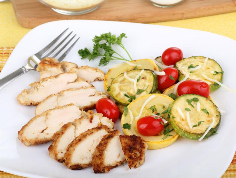 Dijon Chicken w/ Zucchini & Tomatoes