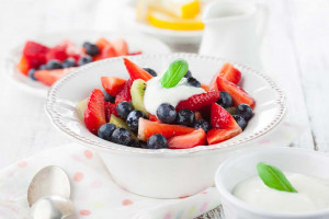 Fruit Salad with Honey Yogurt