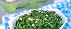 Garlic Sautéed Spinach and Kale