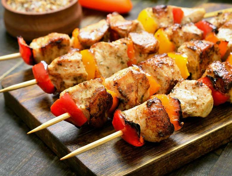 Grilled Chicken Caesar Kabobs