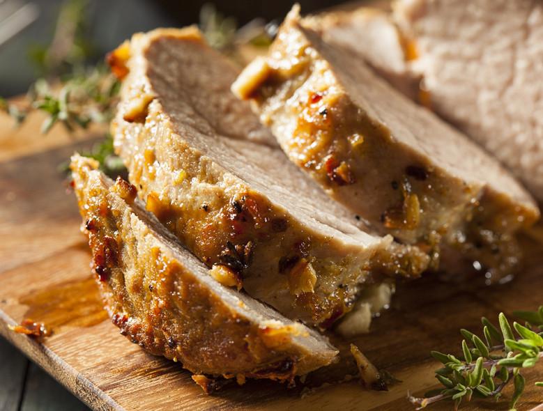 Grilled Pork Tenderloin with Peach Salsa