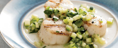 Grilled Scallops with Chunky Salsa Verde