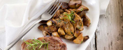 Grilled Steak with Mushrooms