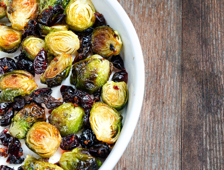 Holiday Brussels Sprouts with Cranberries