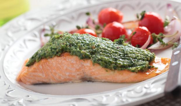 Kale Pesto Salmon