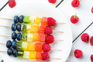 Kid-Friendly Rainbow Fruit Platter
