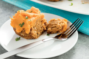 Meatloaf Muffins with Sweet Potato Topping