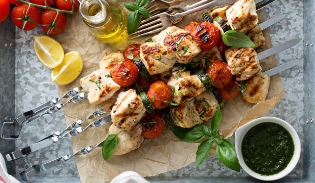 Pesto Chicken Kababs