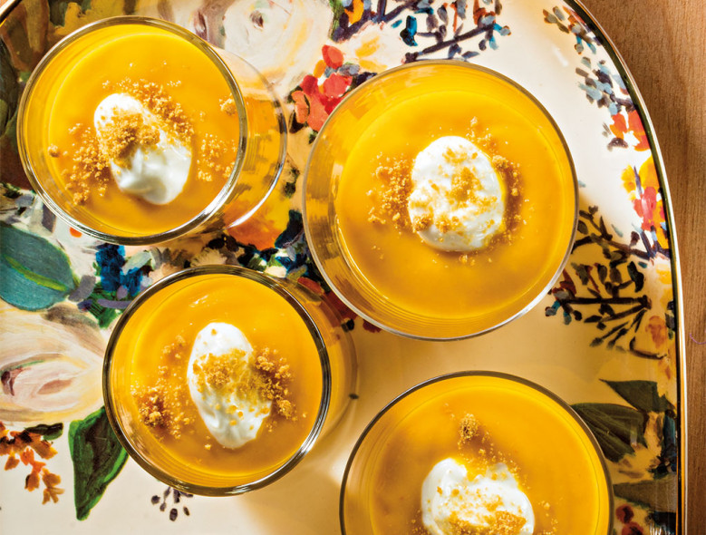 Pumpkin Pudding Parfait with Gingersnaps