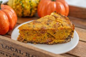 Pumpkin Quiche with Quinoa Crust