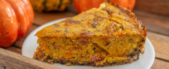 Pumpkin Quiche with Quinoa Crust