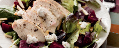 Roasted Beet and Chicken Salad with Goat Cheese