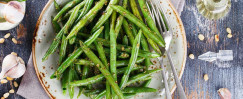 Roasted Green Beans in Champagne Vinaigrette