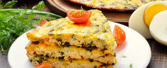 Sausage and Fresh Basil Fast Frittata