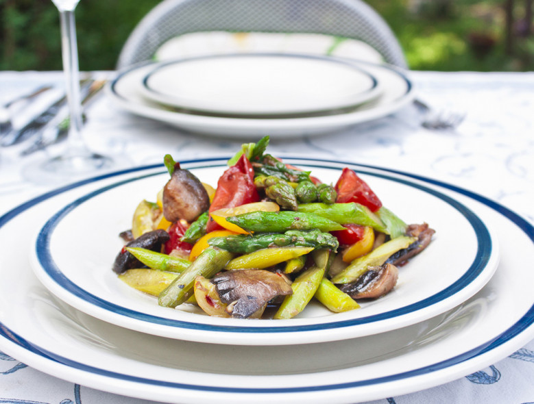 Sautéed Asparagus, Peppers and Mushrooms