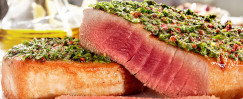 Seared Tuna with Pesto Sauce