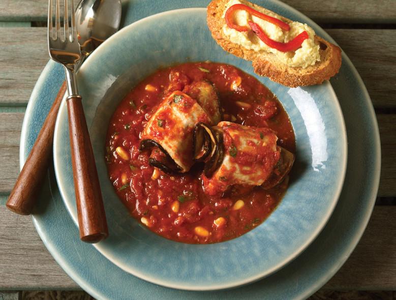 Sicilian Swordfish And Eggplant Bundles