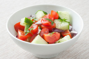 Simple Summer Cucumber and Tomato Salad