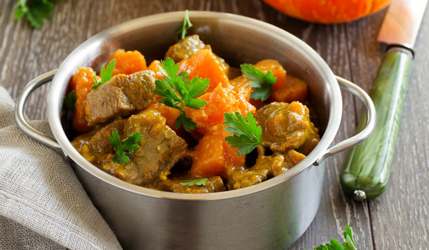 Slow Cooker Pork and Pumpkin Stew