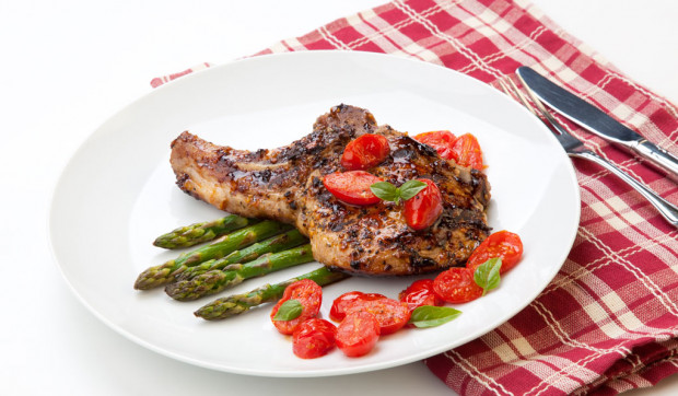 Smoky Pork Chops with Tomatoes