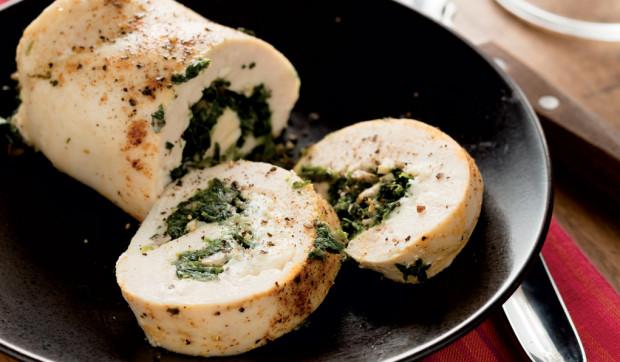 Spinach and Mushroom Stuffed Chicken