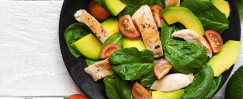Spinach Salad with Chicken and Avocado