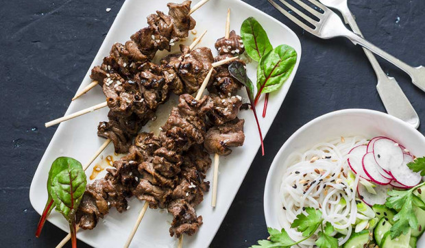 Thai Lemongrass Beef Skewers