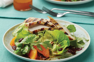 Grilled Chicken Salad With Candied Pecans