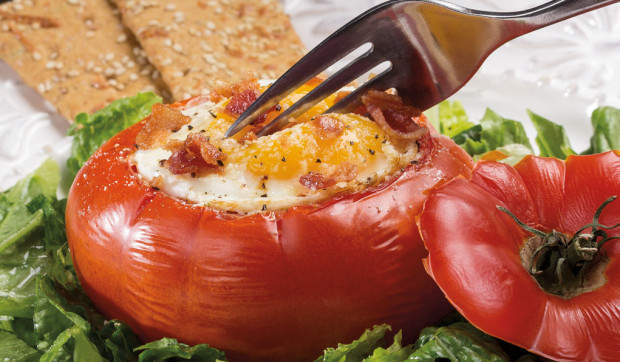 Baked Egg 'n' Tomato Cups