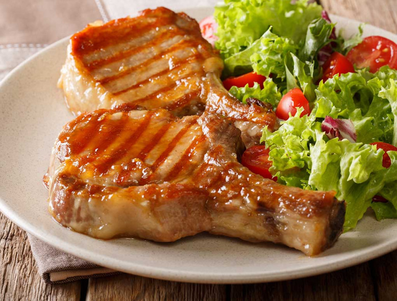 Apple Mustard Pork Chops