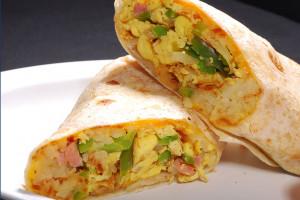 Breakfast Egg and Ham Burrito