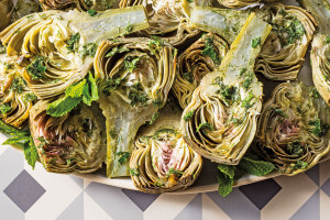 Baby Artichokes with Herb Dressing