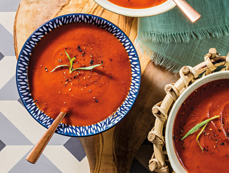 Chilled Tarragon and Tomato Soup