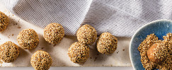 Date, Almond, and Sesame Balls