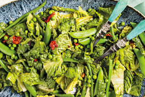 Spring Vegetable Salad with Tomato Vinaigrette