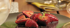 Strawberries With Balsamic Glaze, Black Pepper, and Tarragon
