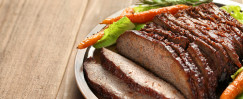Brisket with Wine Reduction