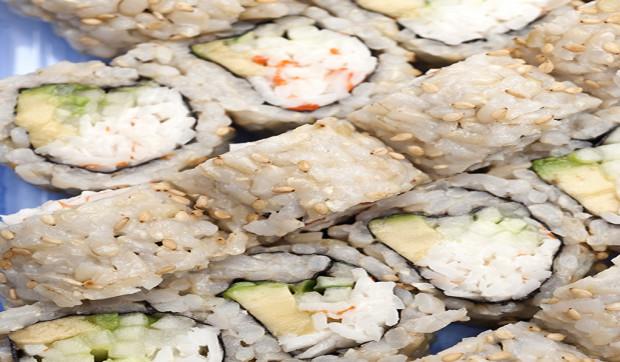 Brown Rice Salmon Maki