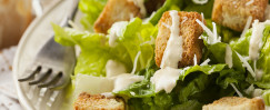 Caesar-Style Salad with Rustic Croutons